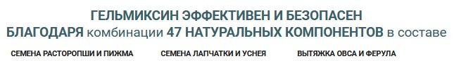 Состав антипаразитарного комплекса Гельмиксин