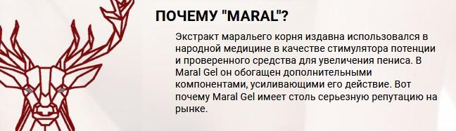 Инструкция по применению Maral Gel