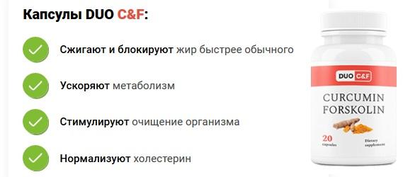 Состав DUO C&F Curcumin Forskolin