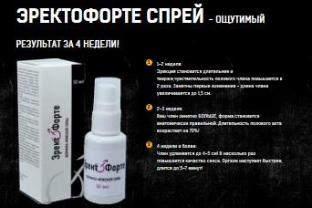 Эректо Форте спрей для увеличения в Киселёвске