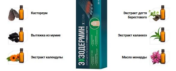 Состав крема Экзодермин